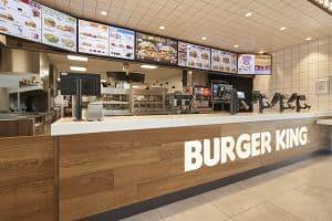 Restaurant de burger en franchise Burger King à Ancenis intérieur