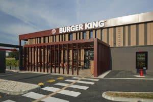 Restaurant de burger en franchise Burger King à Ancenis extérieur