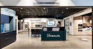 Intérieur de magasin de cuisines Mobalpa au nouveau concept 2020