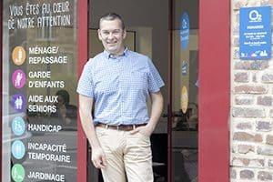 Thierry Beaucousin, franchisé O2 Care Services à Elbeuf et Louviers