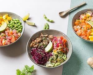 Maison Poké par Uber Eats en partenariat avec la franchise Côté Suhi