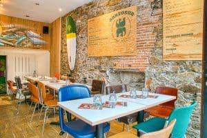 Restaurant à l'enseigne de restauration asiatique Santosha à Nantes