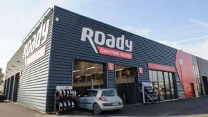 Façade d'un centre auto Roady