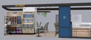 Shop in shop Columbus Café dans l'hypermarché Auchan d'Englos (Nord)