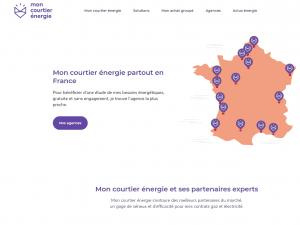 Capture d'écran du site internet de la franchise Mon Courtier Energie