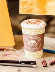 Produits de l'enseigne de restauration rapide Columbus Café