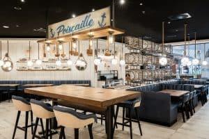 Restaurant au nouveau concept Léon au centre commercial Aéroville juillet 2020