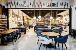 Restaurant Léon au nouveau concept au centre commercial Aéroville juillet 2020