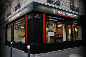 Magasin Mail Boxes Etc. à Paris, franchise de services