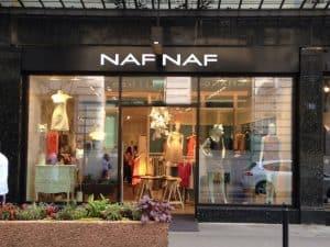 Boutique de mode à l'enseigne Naf Naf