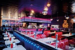 Restaurant à l'enseigne Memphis au nouveau concept 2020 - intérieur