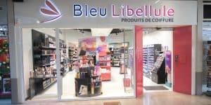 Magasin à l'enseigne de produits de coiffure Bleu Libellule
