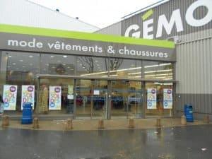 Extrerieur d'un magasin Gémo