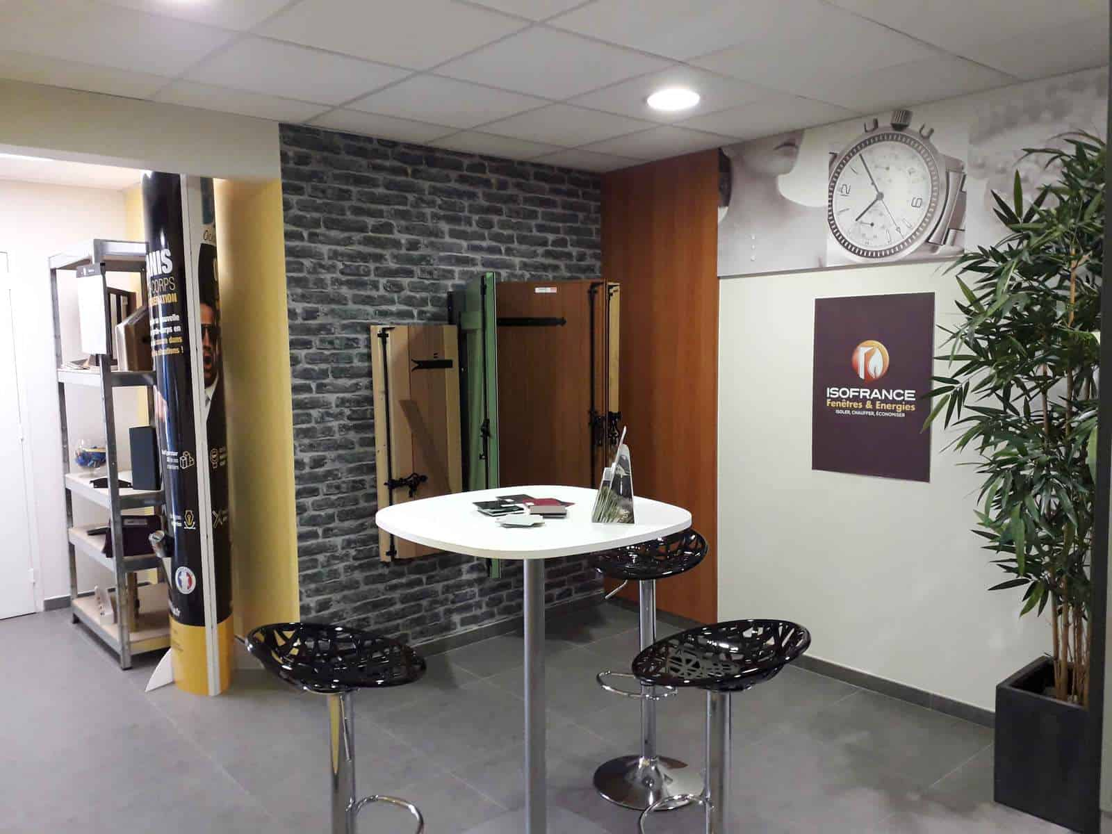 Showroom concessionnaire ISOFRANCE Fenêtres & Energies